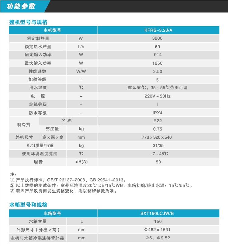 郑州格力空气能热水器水之韵参数