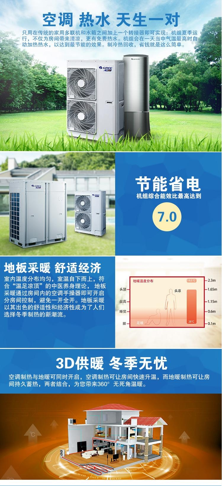 格力GMV Unic全能一体机 空调+热水+地暖
